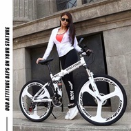 現貨免運OYMA折疊腳踏車24、26吋鋁鎂合金ㄧ體輪21、24、27段變速雙避震折疊登山車