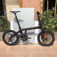 basikal lajak ❃New JAVA good carbon fiber folding bicycle 18-speed dual disc brakes 20-inch folding bike ARIA men and wo