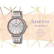 แท้ศูนย์ CASIO SHEEN นาฬิกาข้อมือผู้หญิง สายสแตนเลส รุ่น SHE-3062PG  SHE-3064PG SHE-3809PG ประกันศูนย์
