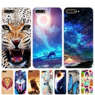 Huawei Y6 2018 Case Silicone Huawei Y6 2018 Case Soft TPU Painting Cartoon Phone Case Cover Huawei Y 6 Y62018