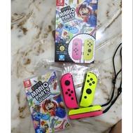 NS switch 超級瑪利歐派對Joy-Con手把同捆組 (二手含運)