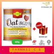 Biogrow BG22 Oat Bran Powder with Beta-Glucan 480g FREE Mystery Gift EXP:03/2022 [ BG 22 Beta glucan Trans Fat Free ]