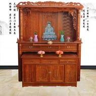 Buddha Cabinet Clothes Closet Bodhisattva Buddha Shrine Altar Household Buddhist Shrine Incense Burner Table Solid Woo