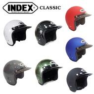 หมวกกันน็อค คลาสสิค วินเทจ INDEX C200 มี 7 สี (ไม่มีแว่นหน้าหมวก)