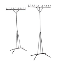 Clothes Hanging Bamboo Stand / Drying Rack / 7ft Aluminium Pole