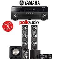 (Polk Audio) Polk Audio TSi 500 5.1-Ch Home Theater Speaker System with Yamaha AVENTAGE RX-A870BL...