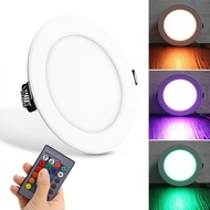 10W RGB Ceiling Lamp 85-265V 7Colors Change Romote Control Downlight