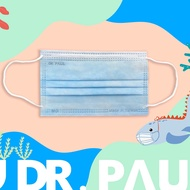 Dr.PAUL - 兒童三層醫用、雙鋼印、台灣製平面口罩 (未滅菌)-湖水藍 (14.5*9cm)-50入/盒