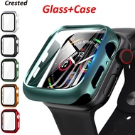 Glass+cover For Apple Watch case 44mm 40mm iWatch case 42mm 38mm Screen Protector+bumper apple watch series 5 4 3 2 Accessories