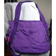 Kipling DigiSport 新款側背包手提包 斜揹包/斜垮包雙拉鍊可擺筆電 ( 深紫色版)