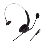 Universal 4-pin RJ9 Call Center Hands-free Headset Xfox® Monaural Mic Headphone Noice Cancelling + Extra Cushions for Avaya Nortel Nt Yealink Ge Emerson Office Desktop Telephone