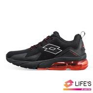 【LOTTO】男  VOLARE RUN 氣墊跑鞋(黑紅-LT9AMR1130)