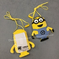 大阪環球影城 小小兵 小黃人 絨布 隨身包 萬用包 掛式 零錢包 票卡夾