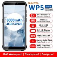 OUKITEL WP5 5.5นิ้ว4Gโทรศัพท์IP68กันน้ำMT6761 Quad Coreโทรศัพท์มือถือ4GB 32GB 8000MAhสมาร์ทโฟนTripleกล้อง