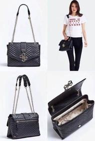 ใหม่ กระเป๋า สะพายข้าง GUESS VIOLET QUILTED-LOOK CROSSBODY BAG ของแท้ ส่งฟรี