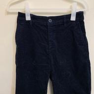 無印良品 MUJI 有機棉混彈性燈芯絨舒適寬擺褲 暗藍