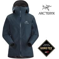 【ARCTERYX 始祖鳥 加拿大】ZETA SL 防水外套 防水夾克 防水機能外套 GORE-TEX 迷惑藍 女款 (L07221700)