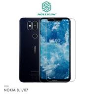 NILLKIN NOKIA 8.1/X7 超清防指紋保護貼 保護貼 套裝版 含鏡頭貼 螢幕膜 高清貼