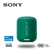 SONY 可攜式無線藍牙喇叭 SRS-XB12 綠色