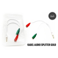 1-2 Male To 2 Female Audio Splitter Cable / Jack