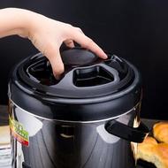 大容量奶茶店飲料豆漿不銹鋼桶保溫桶商用米飯熱水龍頭湯桶開水桶 WD 聖誕節歡樂購