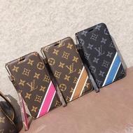 大牌 LV印花 翻蓋手機皮套適用於iPhone X XR Max 6 7 8plus 11Pro Max手機殼 支架皮套