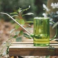 不銹鋼長嘴塑料灑水壺家用澆花壺澆水園藝工具