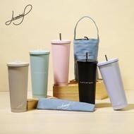 【Hiromimi】不鏽鋼吸管杯大容量750ml(2入組)杯蓋x4+吸管x4+吸管刷x2+杯塞x4-5色可選