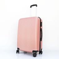 กระเป๋าเดินทาง กระเป๋าล้อลาก กระเป๋าเดินทางล้อลาก ขนาด 20/24 นิ้ว 4 ล้อ รุ่นซิป วัสดุABS+PC แข็งแรงทนทาน สีชมพู mizgoods