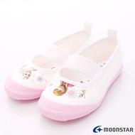 日本月星Moonstar機能童鞋 日本製冰雪奇緣聯名室內鞋款 014粉(中小童段)