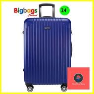 กระเป๋าจัดระเบียบ ร้านแนะนำกระเป๋าเดินทาง 24 นิ้ว 8 ล้อ 360° รุ่น ABS7707 (Blue) กระเป๋าเดินทาง