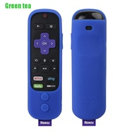 Green tea♪♪Silicone Protective Cover For Roku Ultra With Power Button Enhance Remote Cover
