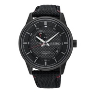 SEIKO AUTOMATIC SSA383K1 LEATHER IPBLACK MENS WATCH