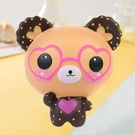 New Squishy Love Cute Glasses Bear Squishies Toy Scented Squishy Charm Super Slow Rising Squeeze Toy