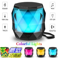 [8美國直購] 無線多彩喇叭 LED Bluetooth Speaker,LFS Night Light Wireless Speaker,Untra Mini Speaker,Diamond Shape Portable