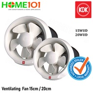 KDK Window Mounted Ventilating Fan 15cm / 20cm [15WUD][20WUD]