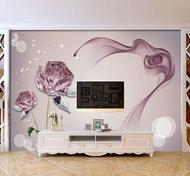 免運 壁紙 8d客廳電視背景墻壁紙5d立體簡約現代墻紙無紡布3d影視墻裝飾壁畫