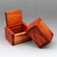 首飾盒 紅木小盒子緬甸花梨迷你首飾盒實木質收納盒茶葉印章沉香   瑪奇哈朵SUPER SALE樂天雙12購物節