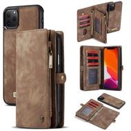 เคสกระเป๋าสตางค์แบบมีซิปสำหรับApple iPhone 11 / iPhone 11 Pro/iphone 11 Pro Max,เคสใส่บัตรมัลติฟังก์ชัน2 In 1ถอดออกได้สำหรับApple iPhone 11กระเป๋าใหม่ปี2019