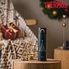【THERMOS 膳魔師】 2020聖誕瓶新品 不鏽鋼真空保溫瓶0.4L-(JNI-401CM-TBBK)深藍色