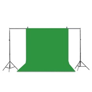 Professional Studio Background Stand Kit - 10x6.5ft Photo Backdrop Support Stand Kit + Backdrop Screen (Black,Green,White) + 2 Background Clamps + Carrying Bag