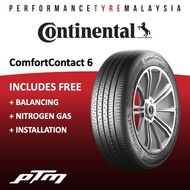 Continental ComfortContact 6 CC6 (FREE INSTALLATION) 175/70R13 165/60R14 185/65R14 185/60R14 165/55R14 195/50R15 185/55R15 185/60R15 195/55R15 175/65R14 175/65R15 185/70R14 195/60R15 195/65R15 205/65R15 185/55R16 205/55R16 215/60R16 215/65R16 Tyre