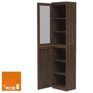 【特力屋】組萊特高窄深木組合櫃.深木層板.深木門深玻璃門