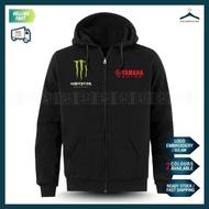 Zip Hoodie Yamaha Monster Sulam MotoGP Motorcycle Motosikal Superbike Racing Team Casual Y125Z LC135 RXZ TZM SRL Y15