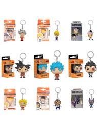FUNKO POP Dragon Ball VEGETA Super Saiyan Goku Gotenks Beerusพวงกุญแจของเล่นAction Figure Collectionของเล่นคริสต์มาสของขวัญ