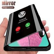 For IPhone 12 Mini case smart mirror flip phone cases For IPhone 12 Pro Max 12Mini 12Pro 12Max magnetic stand cover coque