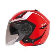 (歐樂免運)瑞獅 ZEUS ZS-612A/ AD4-紅白/ 半罩安全帽 彩繪/輕量/可拆透氣內襯/內制墨鏡/插銷扣環