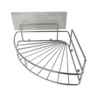 HOLA 阿瑞斯304不鏽鋼無痕貼扇形角落架