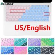 蘋果 漸變鍵盤膜 MacBook Air Pro 11 12 13 獨家新款 全新 漸變橙 漸變藍 保護膜 超薄 防水
