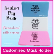 Teachers Day Customised Name Mask Holder / Mask Case / Face Mask Storage Box / Face Mask Casing / Christmas Gift